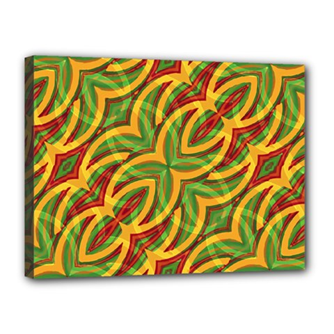 Tropical Colors Abstract Geometric Print Canvas 16  X 12  (framed) by dflcprints