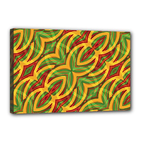 Tropical Colors Abstract Geometric Print Canvas 18  X 12  (framed) by dflcprints