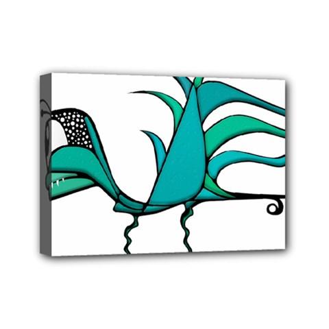 Fantasy Bird Mini Canvas 7  X 5  (framed) by dflcprints