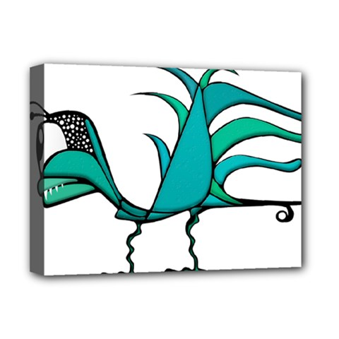 Fantasy Bird Deluxe Canvas 16  X 12  (framed)  by dflcprints