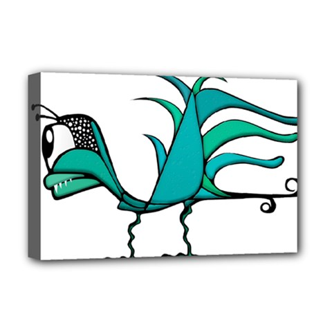 Fantasy Bird Deluxe Canvas 18  X 12  (framed) by dflcprints