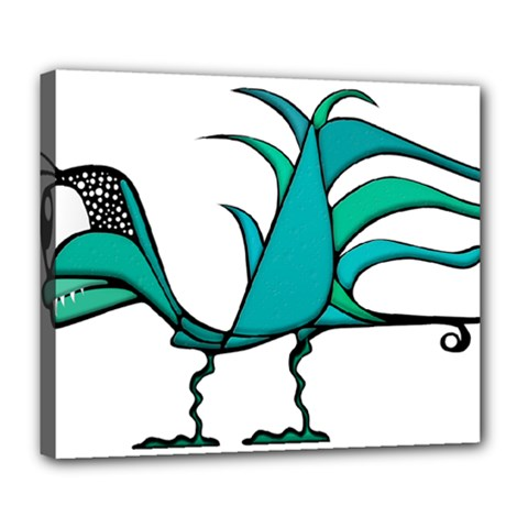 Fantasy Bird Deluxe Canvas 24  X 20  (framed) by dflcprints