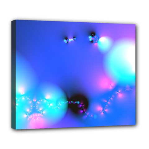 Love In Action, Pink, Purple, Blue Heartbeat 10000x7500 Deluxe Canvas 24  X 20  (framed) by DianeClancy