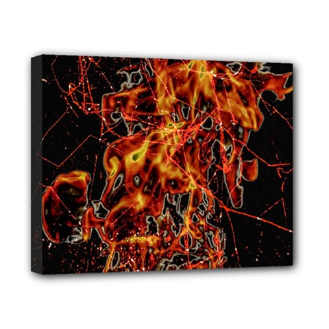 On Fire Canvas 10  X 8  (framed) by dflcprints