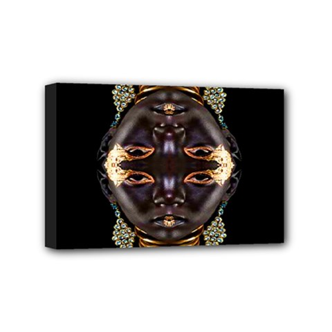 African Goddess Mini Canvas 6  X 4  (framed) by icarusismartdesigns
