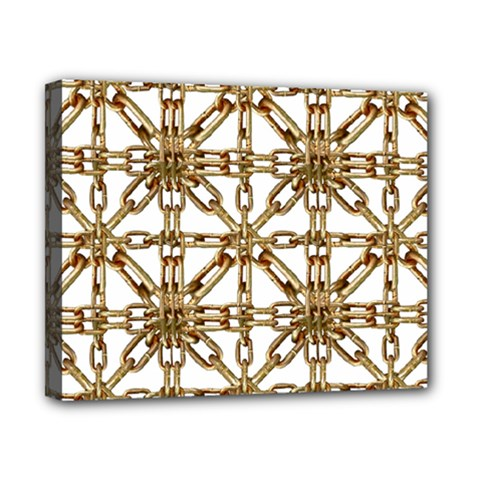 Chain Pattern Collage Canvas 10  X 8  (framed) by dflcprints