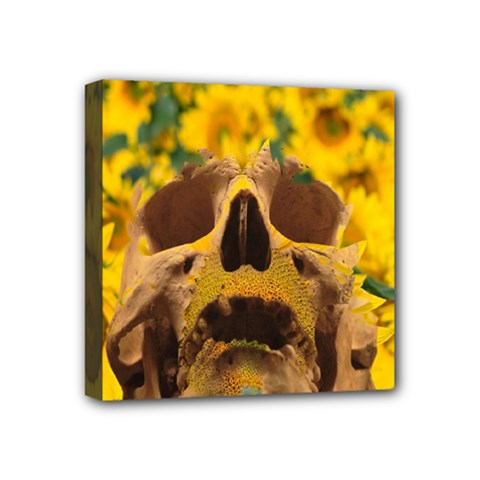 Sunflowers Mini Canvas 4  X 4  (framed) by icarusismartdesigns