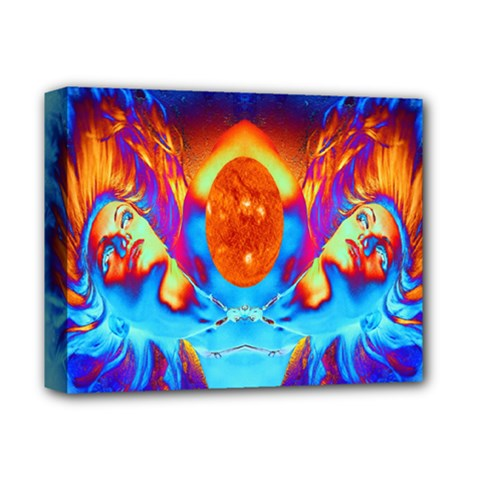 Escape From The Sun Deluxe Canvas 14  X 11  (framed) by icarusismartdesigns