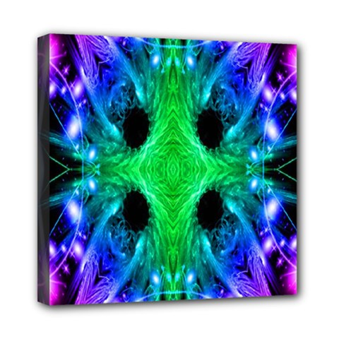 Alien Snowflake Mini Canvas 8  X 8  (framed) by icarusismartdesigns