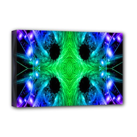 Alien Snowflake Deluxe Canvas 18  X 12  (framed) by icarusismartdesigns