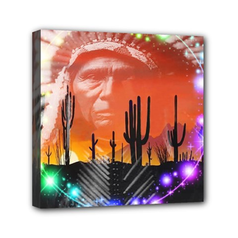 Ghost Dance Mini Canvas 6  X 6  (framed) by icarusismartdesigns