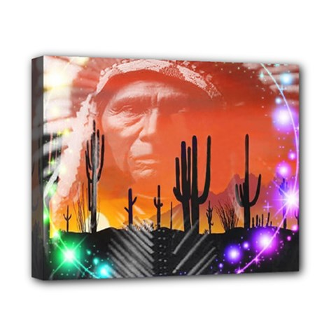 Ghost Dance Canvas 10  X 8  (framed) by icarusismartdesigns