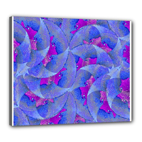 Abstract Deco Digital Art Pattern Canvas 24  X 20  (framed) by dflcprints