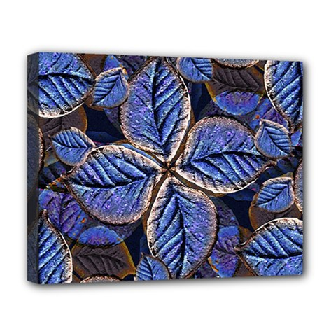 Fantasy Nature Pattern Print Deluxe Canvas 20  X 16  (framed) by dflcprints
