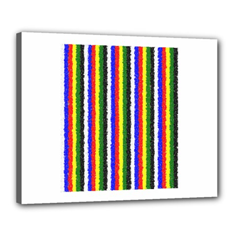 Basic Colors Curly Stripes Canvas 20  X 16  (framed) by BestCustomGiftsForYou
