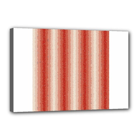 Red Curly Stripes Canvas 18  x 12  (Framed) by BestCustomGiftsForYou