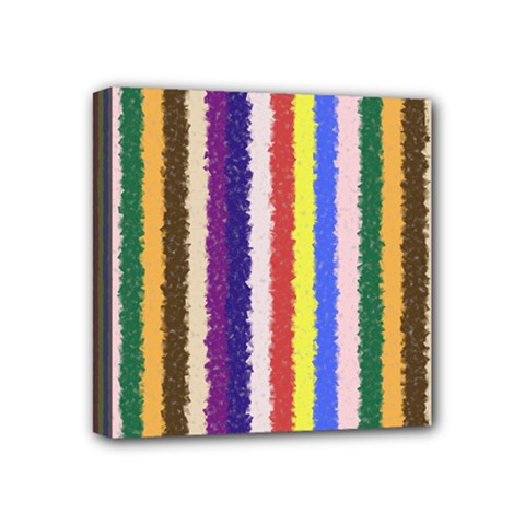 Vivid Colors Curly Stripes   1 Mini Canvas 4  X 4  (framed) by BestCustomGiftsForYou