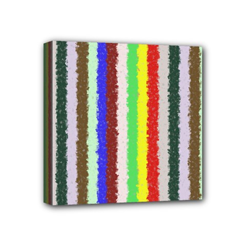 Vivid Colors Curly Stripes   2 Mini Canvas 4  X 4  (framed) by BestCustomGiftsForYou