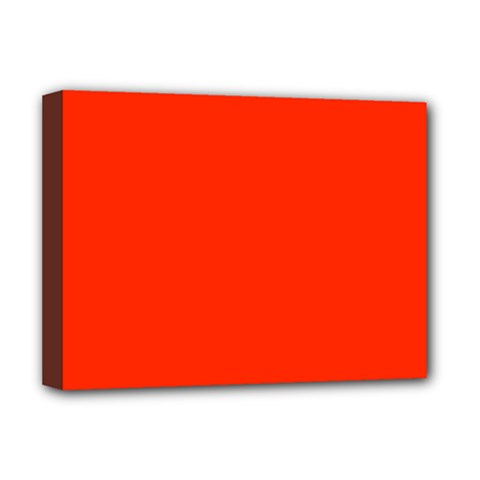 Bright Red Deluxe Canvas 16  X 12  (framed)  by BestCustomGiftsForYou