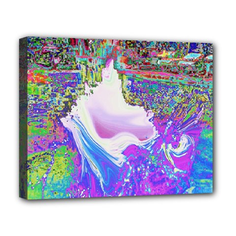 Splash1 Deluxe Canvas 20  X 16  (framed) by icarusismartdesigns