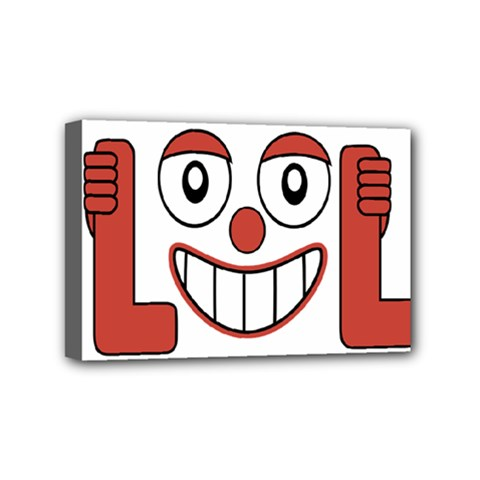 Laughing Out Loud Illustration002 Mini Canvas 6  X 4  (framed) by dflcprints