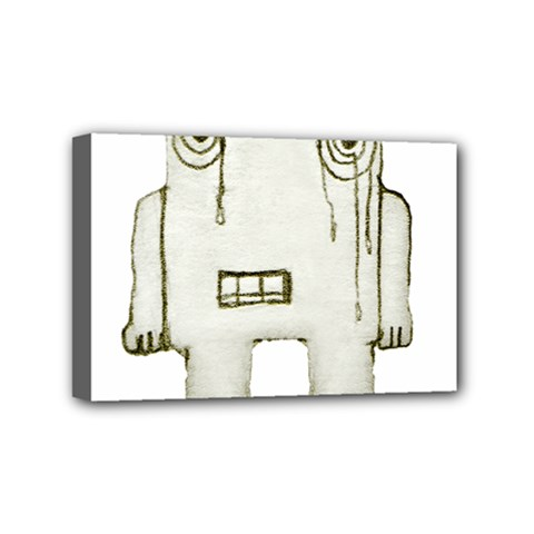 Sad Monster Baby Mini Canvas 6  X 4  (framed) by dflcprints