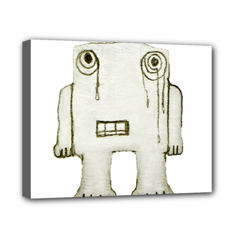 Sad Monster Baby Canvas 10  X 8  (framed) by dflcprints
