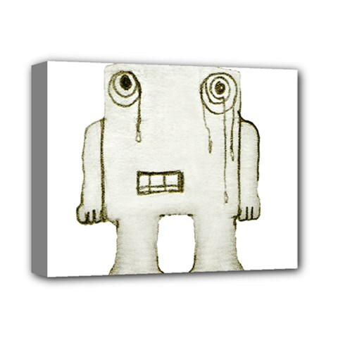 Sad Monster Baby Deluxe Canvas 14  X 11  (framed) by dflcprints