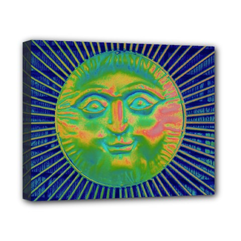 Sun Face Canvas 10  X 8  (framed) by sirhowardlee