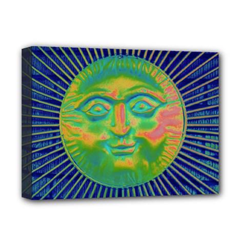 Sun Face Deluxe Canvas 16  x 12  (Framed)  by sirhowardlee