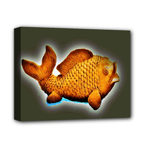 Goldfish Deluxe Canvas 14  X 11  (framed) by sirhowardlee