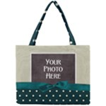 Covered in Teal tiny tote - Mini Tote Bag