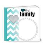 Chevron heart 6x6 Deluxe - 6x6 Deluxe Photo Book (20 pages)