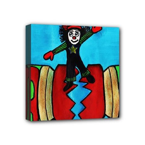 CRACKER JACK Mini Canvas 4  x 4  (Framed) by JUNEIPER07