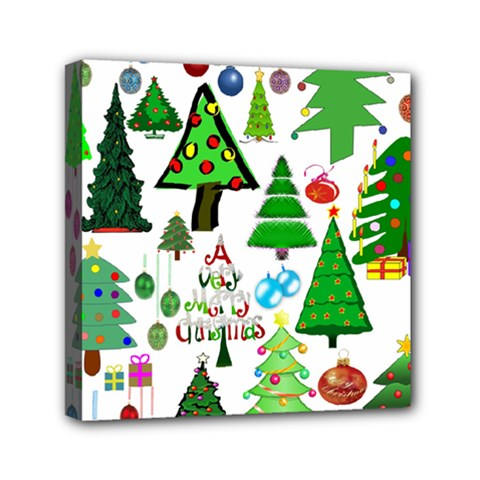 Oh Christmas Tree Mini Canvas 6  X 6  (framed) by StuffOrSomething