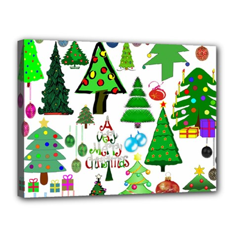 Oh Christmas Tree Canvas 16  X 12  (framed) by StuffOrSomething
