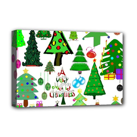 Oh Christmas Tree Deluxe Canvas 18  X 12  (framed) by StuffOrSomething
