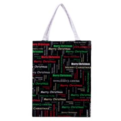 Merry Christmas Typography Art Full All Over Print Classic Tote Bag by StuffOrSomething