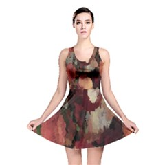 Autumn Mosaics skater dress Full All Over Print Reversible Skater Dress by Khoncepts