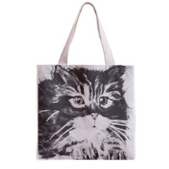 Kitten Full All Over Print Grocery Tote Bag by JUNEIPER07