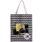 Classic Tote Bag: Black Chevron