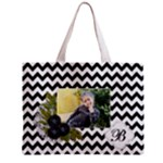 Tiny Tote Bag :  Black Chevron - Mini Tote Bag
