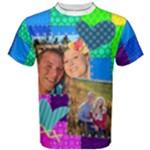 Rainbow Patchwork Shirt - Men s Cotton Tee