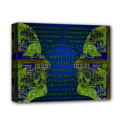 Binary Communication Deluxe Canvas 14  X 11  (framed) by StuffOrSomething