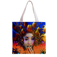 Organic Medusa All Over Print Grocery Tote Bag by icarusismartdesigns