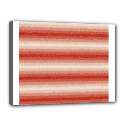 Horizontal Red Curly Stripes Canvas 16  X 12  (framed) by BestCustomGiftsForYou