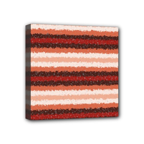 Horizontal Native American Curly Stripes   1 Mini Canvas 4  X 4  (framed) by BestCustomGiftsForYou