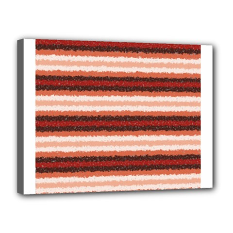Horizontal Native American Curly Stripes   1 Canvas 16  X 12  (framed)