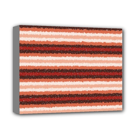Horizontal Native American Curly Stripes - 1 Deluxe Canvas 14  x 11  (Framed) by BestCustomGiftsForYou