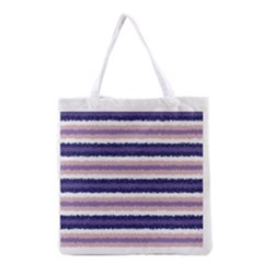 Horizontal Native American Curly Stripes   2 All Over Print Grocery Tote Bag by BestCustomGiftsForYou